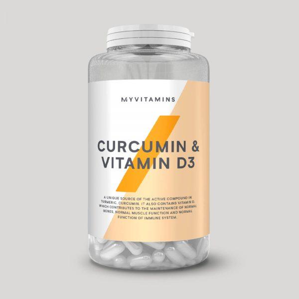 Curcumin & Vitamine D3 Capsules - 60Capsules