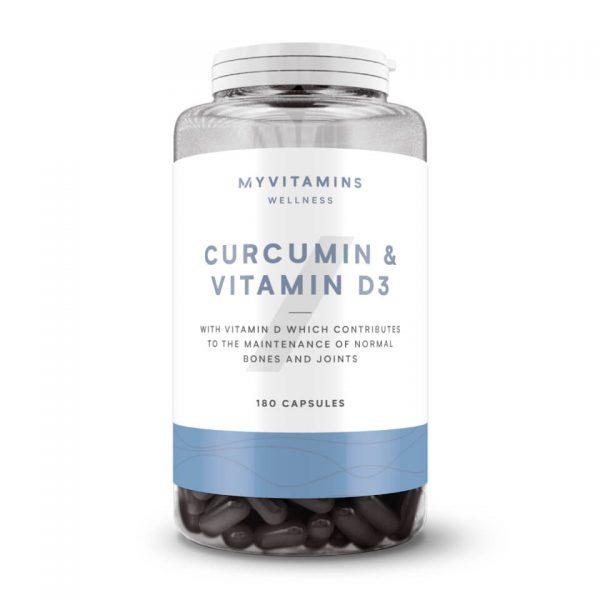Curcumin & Vitamine D3 Capsules - 180Capsules
